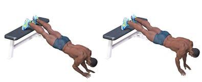Exercice de Bodybuilder Photo libre de droits