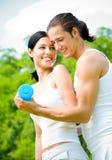 Exercice de couples Photographie stock libre de droits