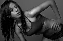 Exercice de femme Photographie stock libre de droits