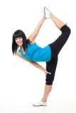 Exercice de femme dans l'étirage Image libre de droits