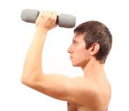 Exercice de forme physique avec des poids Images stock