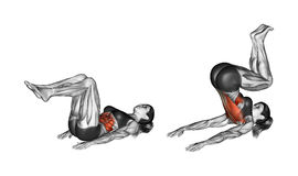 Exercice de forme physique Craquement inverse femelle Photo libre de droits