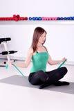 Exercice de forme physique de fille Photo libre de droits