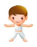 Exercice de garçon Images libres de droits