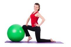 Exercice de jeune femme Image stock
