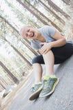 Exercice de jeune fille Images stock