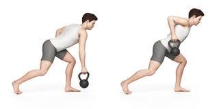 Exercice de Kettlebell Photographie stock