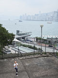 Exercice de kungfu de Taichi un matin brumeux froid Images libres de droits
