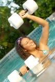 Exercice de l'eau Images stock