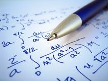 Exercice de maths Images stock
