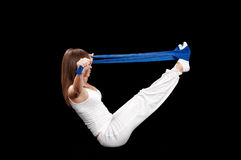 Exercice de Pilates Photo stock