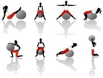 Exercice de Pilates illustration de vecteur