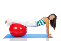 Exercice de Pilates photo libre de droits