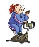 Exercice de régime illustration stock