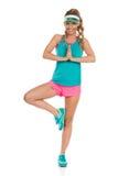 Exercice de relaxation de yoga Photo stock