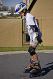 Exercice de Rollerblading Photographie stock libre de droits