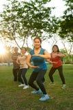 Exercice des personnes âgées Photo stock
