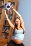 Exercice du femme Image libre de droits