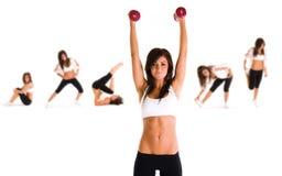 exercice du femme photos stock