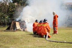 Exercice du feu Photo libre de droits