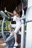 Exercice à la gymnastique Photographie stock
