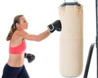 Exercice lourd de sac Photo libre de droits