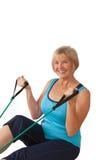 Exercice mûr de femme Photos stock