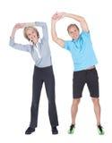 Exercice mûr de couples Photos libres de droits