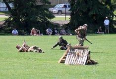Exercice militaire Photos libres de droits