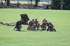 Exercice militaire Photos stock