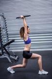 Exercice musculaire de femme Photos stock