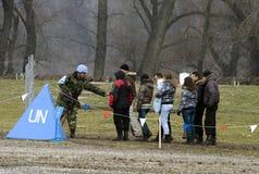 Exercice pour la paix Mission-1 Photos libres de droits