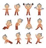 Exercice, santé et forme physique supérieurs de femme Image stock