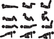 Exercice sportif illustration libre de droits