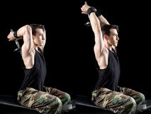Exercice sportif d'homme Photographie stock