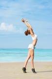 Exercice sur la plage Photographie stock libre de droits