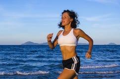 Exercice sur la plage Images stock
