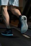 Exercice sur un plan rapproché de tapis roulant Image stock