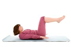 Exercices abdominaux Photos libres de droits