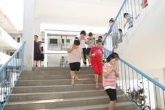 Exercices d'évacuation du feu Photo libre de droits