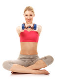 Exercices d'aérobic Photo libre de droits