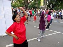 Exercices de forme physique Images stock