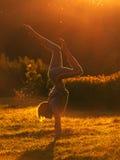 Exercices de matin Photographie stock libre de droits