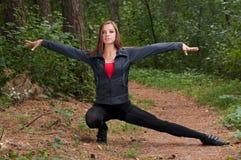 Exercices de matin en stationnement Photo stock