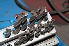 Exercices de torsion en acier. Images libres de droits