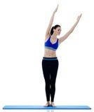Exercices dei pilates di forma fisica della donna isolati Immagini Stock Libere da Diritti