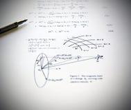 Exercices et école de physique Photo stock