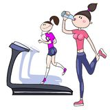 Exercices sportifs illustration libre de droits