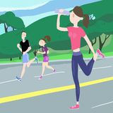 Exercices sportifs illustration stock