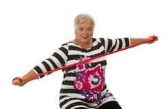 Exercices supérieurs femelles de femme Photo stock